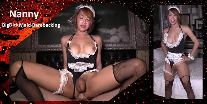 Nanny - Big Dick Maid Barebacking (LadyboysFuckedBareback) HD 720p