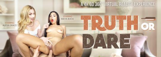 VRbangers: Alexa Grace & Maya Bijou - Truth or Dare [VR Porn] (HD/960p/1.38 GB) 22.10.2017