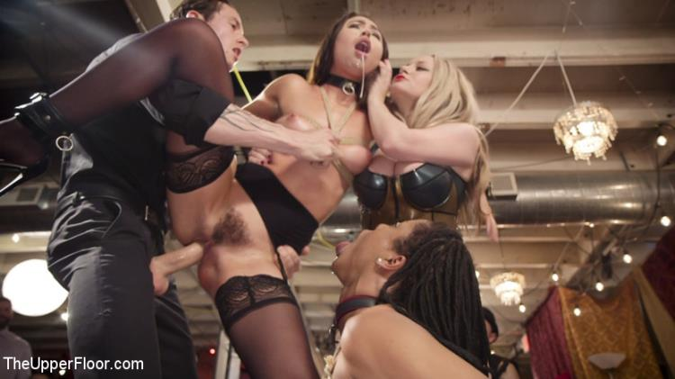 Aiden Starr, Kira Noir, Melissa Moore (The Upper Floor Returns With a Squirting Slave Fuck Fest / 03.10.17) [Kink, TheUpperFloor / SD]