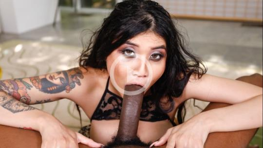 Throated, MyXXXPass: Brenna Sparks - Asian Mouth Vs Black Cock (HD/720p/319 MB) 05.10.2017