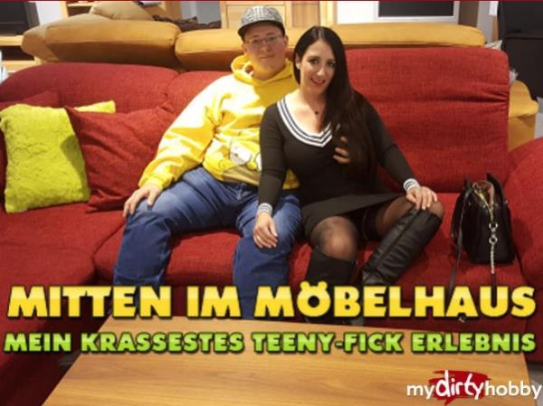 QueenParis - Mitten im Mobelhaus - Mein krassestes Teeny-Fick Erlebnis (MyDirtyHobby/MDH) - [FullHD 1080p]