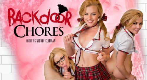 Nicole Clitman - Backdoor Chores (25.10.2017/WankzVR.com/3D/VR/2K UHD/1600p)