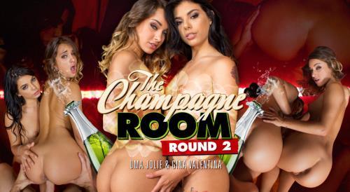 Gina Valentina & Uma Jolie - Champagne Room Round 2 (22.10.2017/WankzVR.com/3D/VR/FullHD/1080p)