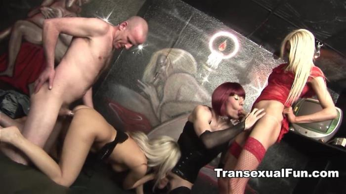 Zoe Fuckpuppet, Karla Coxx, Jessica - Two Shemales With A Man And A Woman  [Transexualfun /  HD 720p]