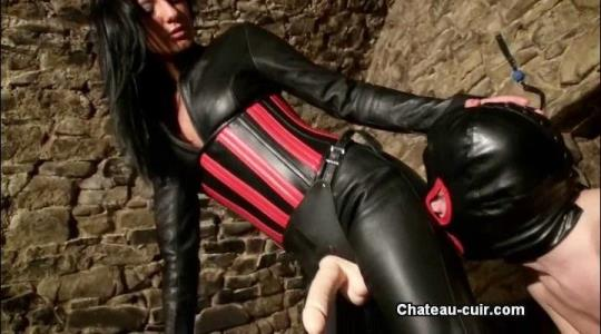 Chateau-Cuir: Mistress - Cum for domina Destiny (SD/400p/221 MB) 12.10.2017