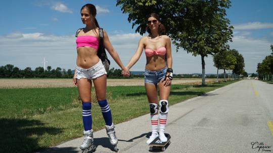 LittleCaprice-Dreams: Little Caprice & Jenifer Jane - Roller Girls (FullHD/1080p/974 MB) 21.10.2017