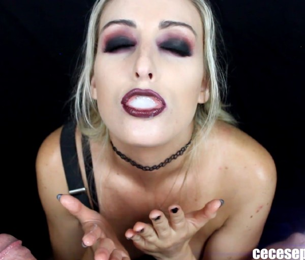 CeCeSeptember/ManyVids - CeCe September - Goth Schoolgirl Blowjob - (1080p / FullHD)