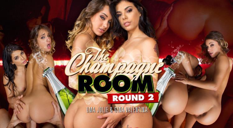 Gina Valentina & Uma Jolie (Champagne Room Round 2) [WankzVR / FullHD / 3D VR]
