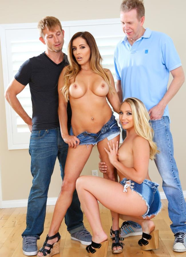Francesca Le, AJ Applegate - Swinging Couples Wife-Swap DP Party! - - EvilAngel [HD 720p]