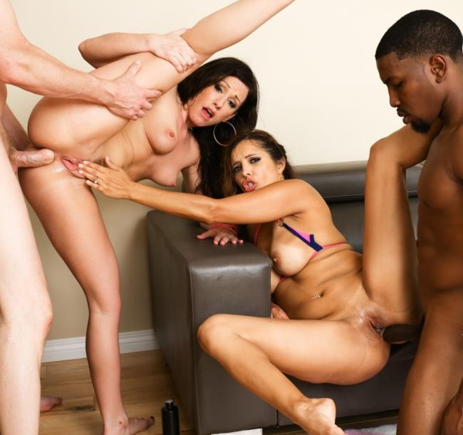 Francesca Le, Jennifer White - Interracial DP Wife Swap Foursome! - (EvilAngel/HD/720p/1.56 Gb) from Rapidgator