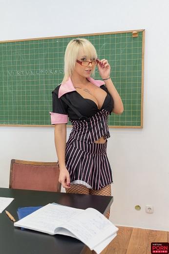 Christina Shine - Big Tits Naughty Teacher [VirtualPornDesire] 1440p - 3D Porn