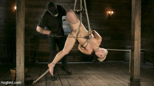Helena Locke - Blonde Buff MILF Helena Locke Made to Cum in Tight Rope Bondage!! [HD, 720p] [HogTied.com / Kink.com]