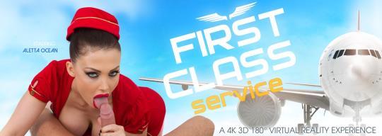 VRbangers: Aletta Ocean - First Class Service [VR Porn] (HD/960p/1.61 GB) 22.10.2017