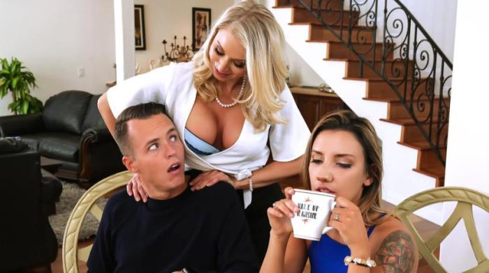 MommyGotBoobs / Brazzers: Katie Morgan - Massaged By Her Mother / 12.11.2017  [SD 480p]  (3some)