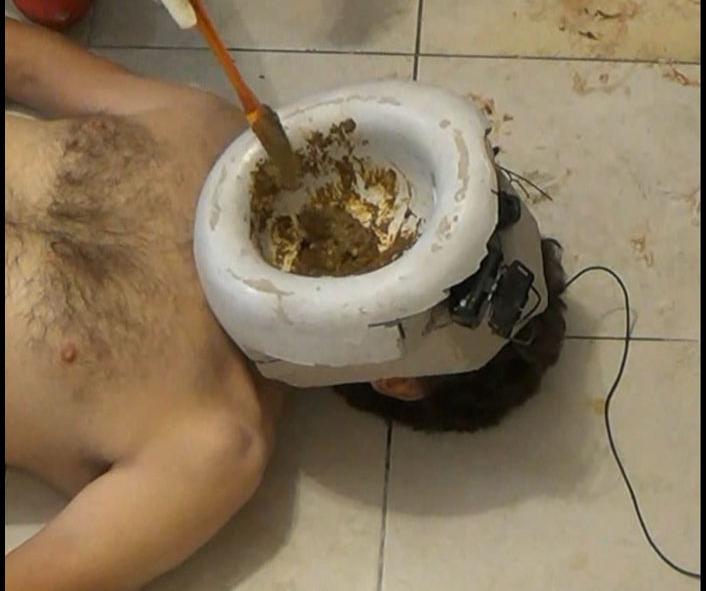 Samantha - The Mask Part 7 Human Toilet (Big pile, New scat)  [FullHD 1080p]
