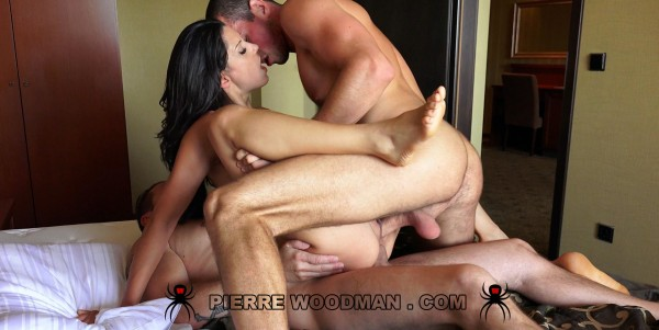 WoodmanCastingX - Alexa Tomas - Hard - My first DP with 3 guys [HD 720p]