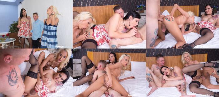 pinkotgirls - Sara Oliveira & Barbara Perez - Three Cocks Is Better [1080p / FullHD]