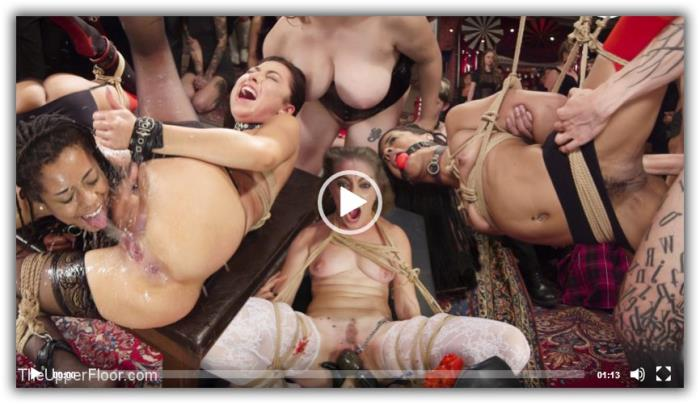 Melissa Moore & Kira Noir - Nympho Slave Slut Soaks The Folsom Orgy with Squirt (TheUpperFloor, Kink) SD 360p