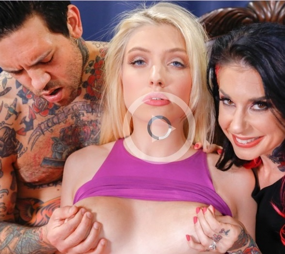 BurningAngel - Giselle Palmer, Joanna Angel - Babysitter Auditions (3some)  [SD / 544p / 363.15 Mb]