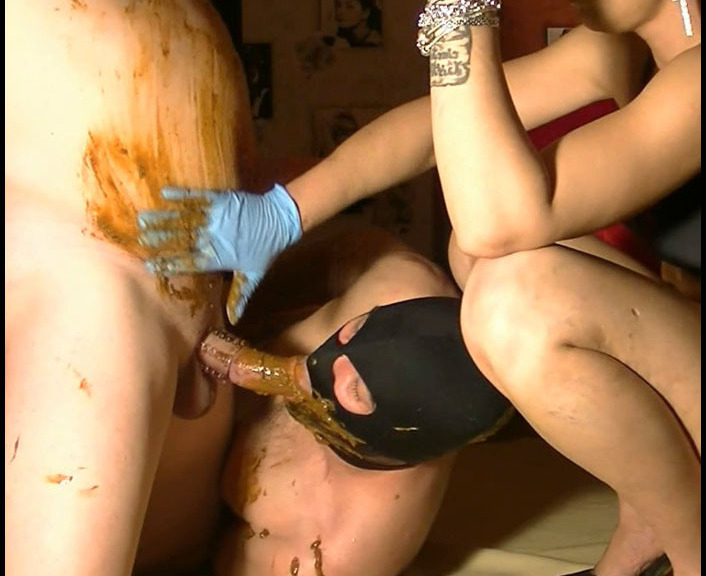 ScatVivian - Full toilet with 2 bisexual slaves (Femdom Scat)  [FullHD 1080p]