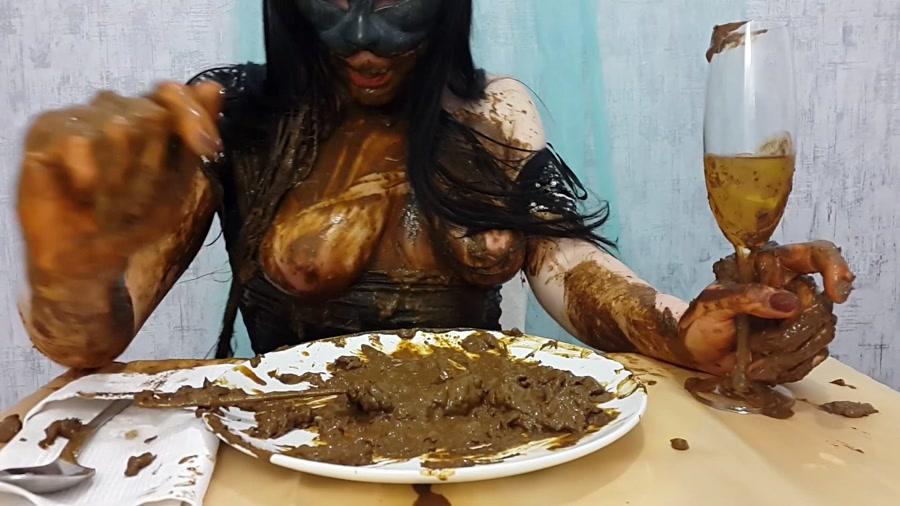 Anna Coprofield - Anna's Private Dinner Part 2 - Scat Shop - FullHD 1080p