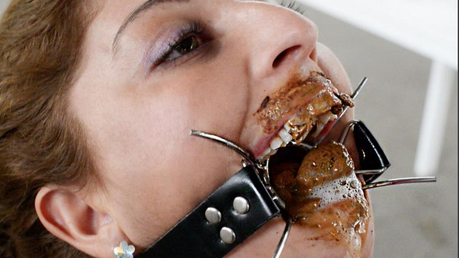 Slave Natasha - Scat Domination Open Mouth By Mikaela Wolf 18 Years Old (Scat, Femdom, Lesbian) [FullHD 1080p] [SG-Video]