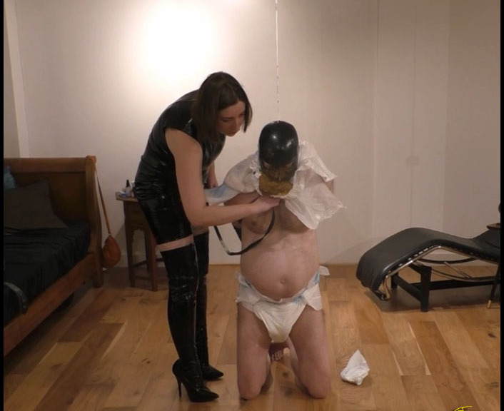 LindzyPoopgirl - Scat Diaper Feeding Humiliation - FullHD 1080p