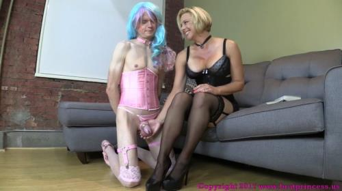 Brianna - Mother Encourages Sissified Son To Appreciate Stockings With Over Knee Spanking [FullHD, 1080p] [BratPrincess.us]