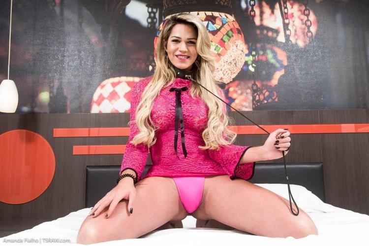 TSRaw.com - Amanda Fialho - Amanda Fialho - Amanda Fialho Submissive Collared Licker Bareback [HD / 2017]