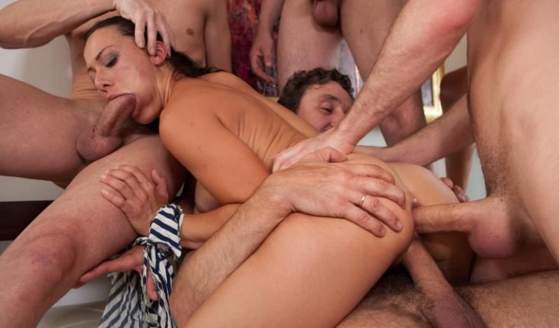 Sandra Romain - Legendary Dom Sandra Romain Returns as a Submissive GangBang Slut (Kink) HD 720p