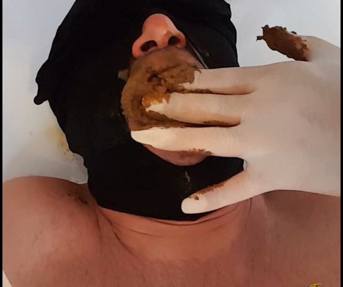 Brown Karina - Mega shit stuffed in his mouth (Poopping, Shitting, Big pile, Scat)  [FullHD 1080p]