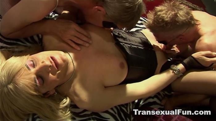 Christina T-Girl- Men Enjoying an Amateur Tranny (Transexualfun) HD 720p