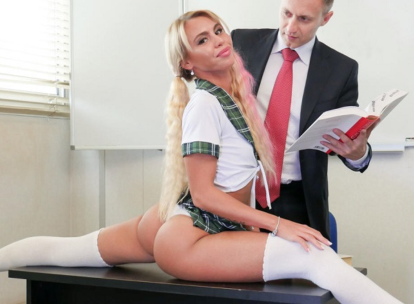 PornoAcademie / PornDoePremium:  Lana Sins- Naughty school girl Lana Sins gets passionately fucked and cum covered  [2017|SD|480p|506.93 Mb]