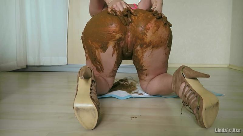 Linda - My Monday Poop And Cum! - Linda's Ass (Solo Scat, Scatting) Extreme Scat [FullHD 1080p]