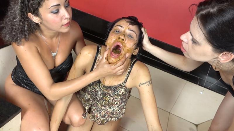The Scat Soup Real Swallow - Extreme Double Scat Domination Dinner (Domination Scat / Lesbian Scat) SG-Video [FullHD 1080p]