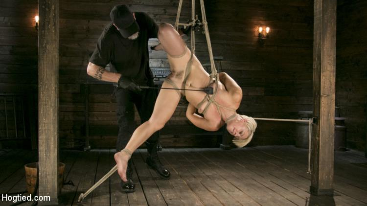 Helena Locke - Helena Locke - Blonde Buff MILF Helena Locke Made to Cum in Tight Rope Bondage!! [HD] - HogTied, Kink.com