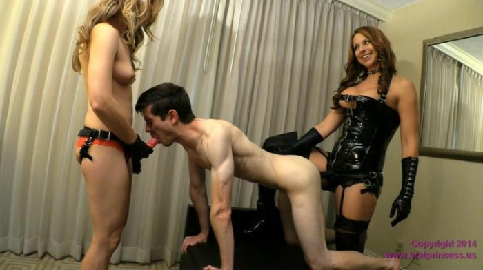 BratPrincess.us - Brianna & Lola - Femdom Family Birthday Pegging [FullHD, 1080p]