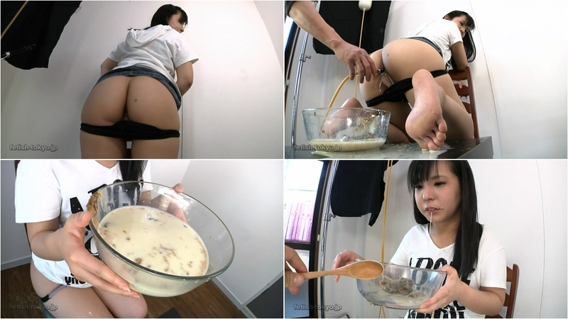 PrincessMonica - DRINKING OWN MILK ENEMA MIXED WITH SHIT AND PUKING IT BACK (Scat, Shit, Poo)  [HD 720p]