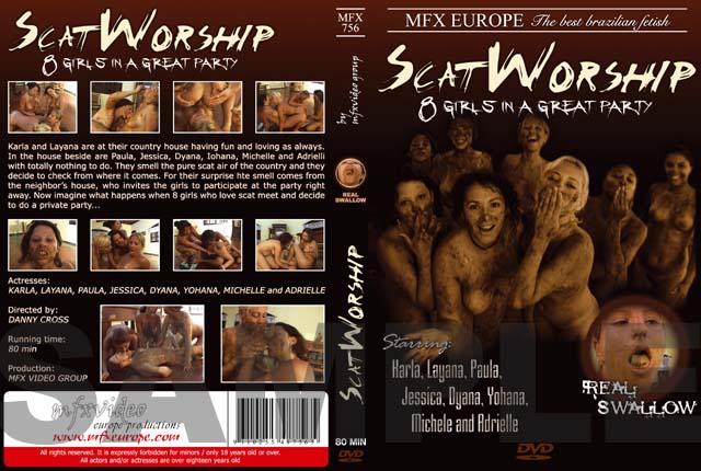 Karla, Layana, Paula, Jessica, Dyana, Iohana Alvez, Michele Santos, Adrielli - [MFX-756] Scat Worship (Scat, Lesbians) MFX-Media [DVDRip]