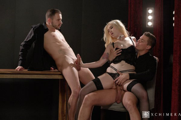 Misha Cross - Stunning babe gets fucked hard in passionate erotic threesome [SD 480p]
