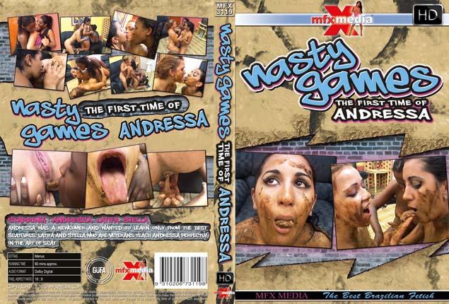 Andressa, Latifa, Stella - MFX-3119 - Nasty Games - 1st Time of Andressa (Scat / Lesbian) MFX Media [SD]