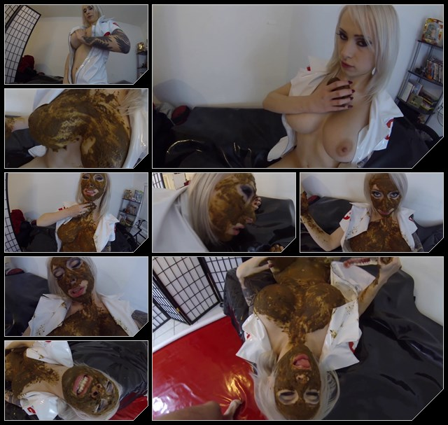 FernandaScat - Blonde pooping, licking shit and masturbation pussy (Solo Scat)  [FullHD 1080p]