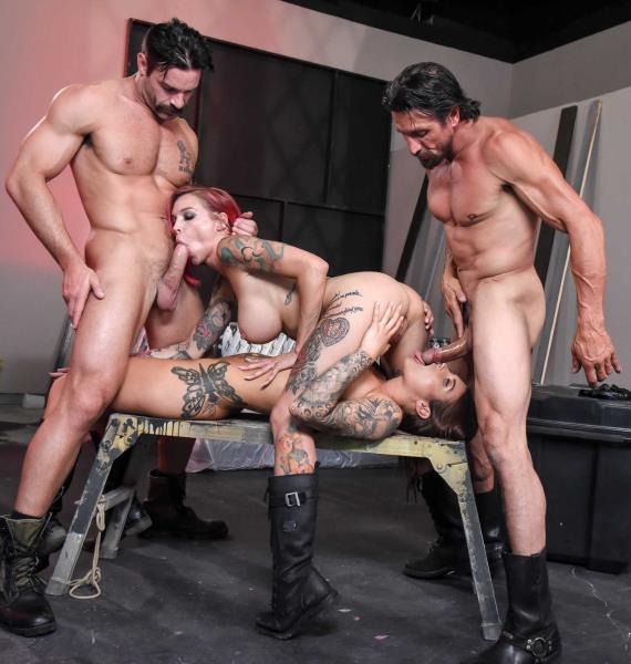 BrazzersExxtra/Brazzers: Anna Bell Peaks, Felicity Feline - Bloodthirsty Biker Babes: Part 2  [SD 480p] (612.1 Mb)
