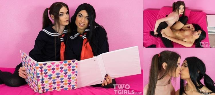 Twotgirls.com - Valentina Mia, Kira Crash - Valentina Mia & Kira Crash - Teen Lesbian Schoolgirls Fuck After Studying [FullHD / 2017]
