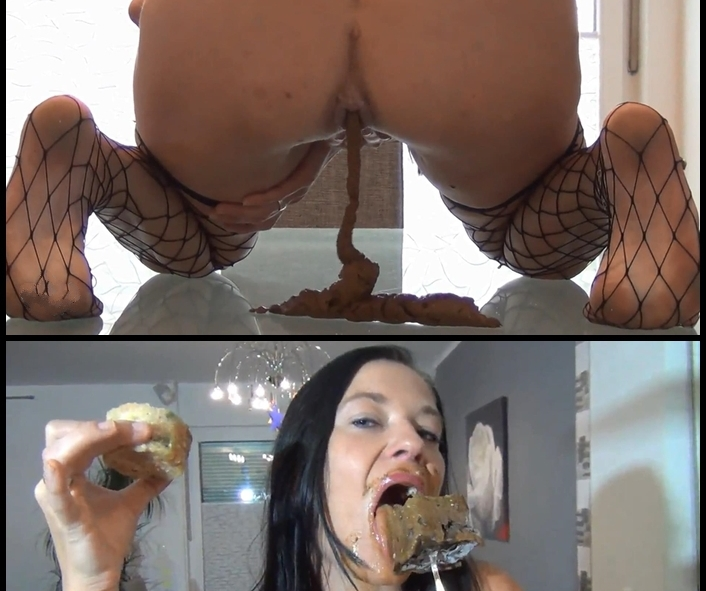 Silvia - Shit and vomit Ice Lolly (Big Pile, Dirty, Scat)  [FullHD 1080p]