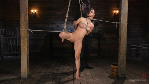 Serena Blair - Girl Next Door Serena Blair Restrained and Made to Cum in Rope Bondage [HD, 720p] [Hogtied.com / Kink.com]