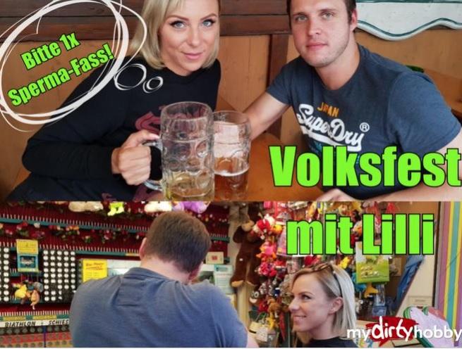 LilliVanilli - Volksfest mit Lilli - Bitte 1x Sperma-Fass - Volksfest with Lilli !! Please 1x sperm barrel! (Milf) - MyDirtyHobby/MDH [FullHD 1080p]