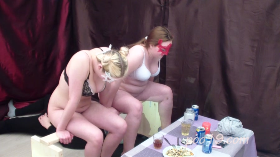 Scatting Domination: Toilet slave quickly swallows shit of two girls - (Smelly Milana) [HD 720p]