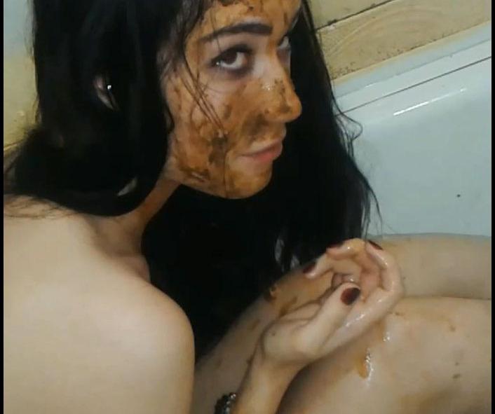 ScatLilSecret - Matildas Kitchen and Bathroom Scat Destruction. Camera 2, Part 2 (Shitting, Big pile, Scat)  [FullHD 1080p]