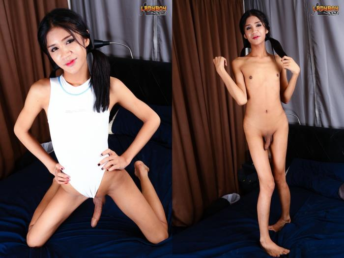 Nat - Swimsuit Babe Nat Plays Cock! (LadyBoy) HD 720p